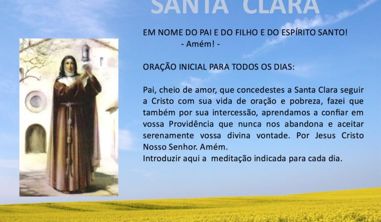 Novena em Honra de Santa Clara